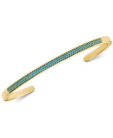 Women's Custom Kors Pavé Sterling Silver Nesting Bracelet Insert