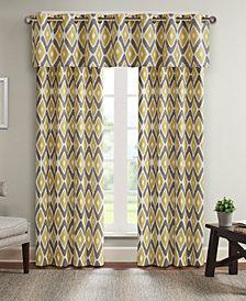 """Madison Park Ashlin Diamond 100"""" x 84""""  Grommet Window Curtain"""