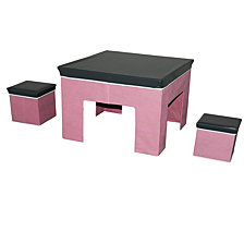 3-Piece Juvenile Storage Set, Pink