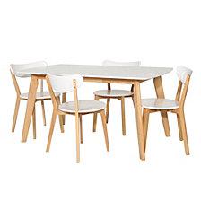 5-Piece Retro Modern Wood Kitchen Dining Set