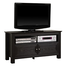 "44"" Wood TV Media Stand Storage Console - Black"