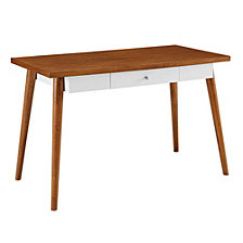 """48"""" Home Office Classic Modern Wood Computer Storage Desk"""