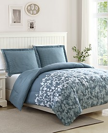 Serena Reversible 3-Pc. Comforter Sets, Created for Macy's