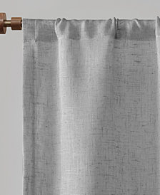 "Madison Park Dalis 60"" x 24"" Faux Linen Rod Pocket Kitchen Tier With Shell Trim"