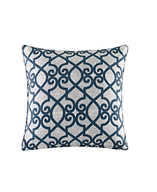 "Madison Park Daven 20"" x 20"" Fretwork 3M Scotchgard Outdoor Square Pillow"