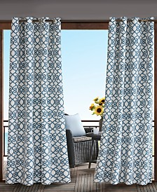 "Madison Park Daven 54"" x 95"" Grommets Printed Fretwork 3M Scotchgard Outdoor Panel"