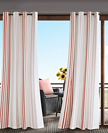 "Newport 54"" x 95"" Grommets Printed Stripe 3M Scotchgard Outdoor Panel"