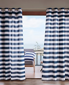 "Madison Park Percee 54"" x 84"" Grommets Printed Cabana Stripe 3M Scotchgard Outdoor Panel"