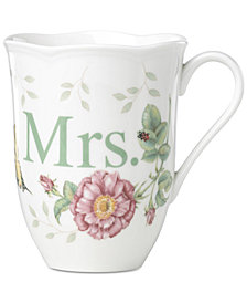 "Lenox Butterfly Meadow ""Mrs."" Mug"