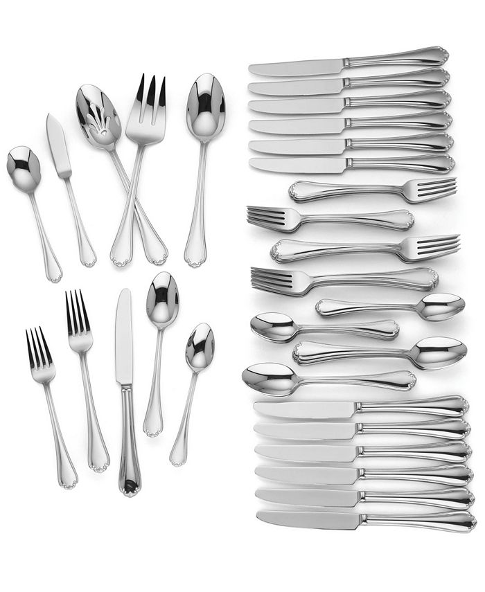 Lenox - Chelsea Muse 65-Pc. 18/10 Stainless Steel Flatware Set, Service for 12, Created for Macy's