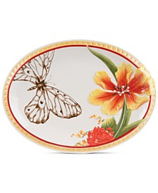 Fitz and Floyd Flower And Butterfly Platter