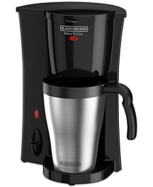 Brew 'n Go Personal Coffeemaker with Travel Mug, Black, DCM18