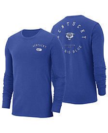 Nike Men's Kentucky Wildcats Retro Cotton Long Sleeve T-Shirt
