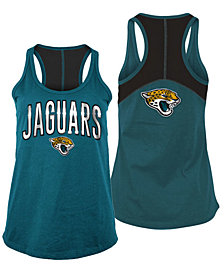 5th & Ocean Women's Jacksonville Jaguars Foil Colorblock Tank