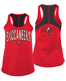 5th & Ocean Women's Tampa Bay Buccaneers Foil Colorblock Tank