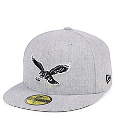 New Era Philadelphia Eagles Heather Black White 59FIFTY FITTED Cap
