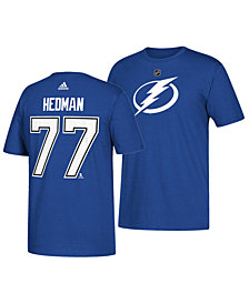 adidas Men's Victor Hedman Tampa Bay Lightning Silver Player T-Shirt