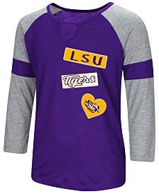 Colosseum LSU Tigers All You Need Three-Quarter Sleeve T-Shirt, Girls (4-16)
