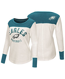 Touch by Alyssa Milano Women's Philadelphia Eagles Thermal Long Sleeve T-Shirt