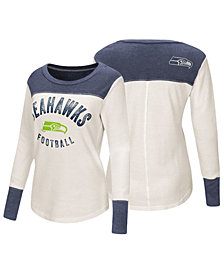 Touch by Alyssa Milano Women's Seattle Seahawks Thermal Long Sleeve T-Shirt