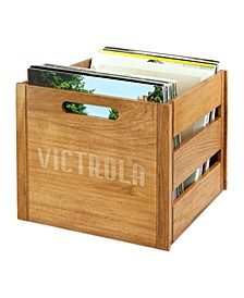 Victrola Wooden Record Crate