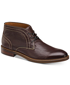 Johnston & Murphy Men's Warner Leather Chukka Boots