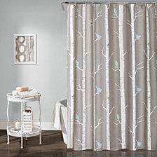 "Bird On The Tree 72""x 72"" Shower Curtain"