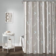"Bird On The Tree 72""x 72"" Shower Curtain"