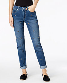 Maison Jules Stud-Embellished Jeans, Created for Macy's