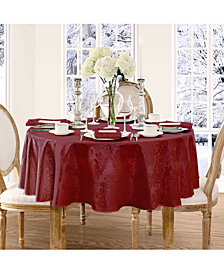 "Elrene Barcelona Damask Burdundy 90"" round Tablecloth"