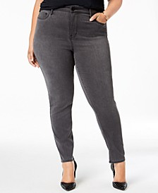 Trendy Plus Size Denim Ankle Leggings