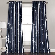 "Bird On The Tree Room Darkening 52"" x 84"" Window Curtain"