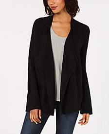 Love Scarlett Petite Laced-Back Open-Front Cardigan