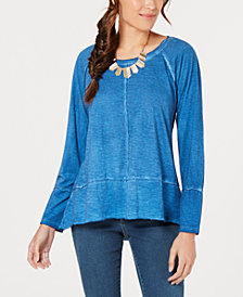 Style & Co Seamed High-Low Top, Created for Macy's