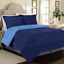 All Season Peach Skin Reversible Full/Queen Bedding Comforter Set
