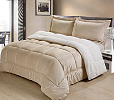 Ultimate Luxury Reversible Micromink and Sherpa Queen Bedding Comforter Set