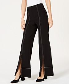 INC Split Wide-Leg Pants, Created for Macy's