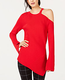 I.N.C. Asymmetrical Cutout Sweater, Created for Macy's