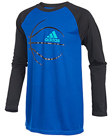 adidas Big Boys Ball-Print T-Shirt