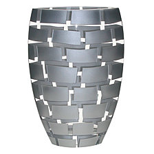 Silver Wall 12 Inch Vase