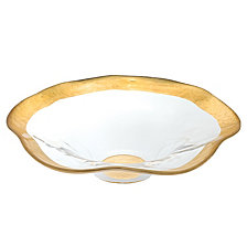 Gold Leaf Wave 8 Inch Bowl
