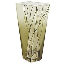 Evergreen 8 Inch Square Vase