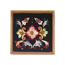 4-Piece Gemstone Black 4 Inch Coaster Set