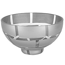 Silver Wall 7 Inch Decorative Bowl