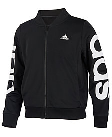 adidas Toddler Girls Cropped Adi Bomber Jacket