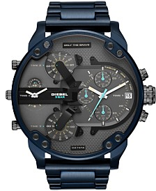 Diesel Men's Chronograph Mr. Daddy 2.0 Blue Stainless Steel Bracelet Watch 57mm
