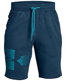 Under Armour Big Boys Rival Graphic Fleece Shorts