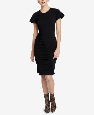 RACHEL RACHEL ROY Amelie Ruched Dress, Created For Macy'S in Black