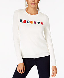 Lacoste Embroidered Graphic Sweater