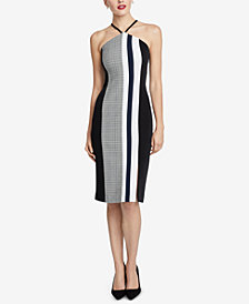 RACHEL Rachel Roy Hailey Colorblocked Sleeveless Dress